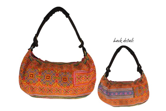 Embroidered Hmong Hill Tribe Satchel