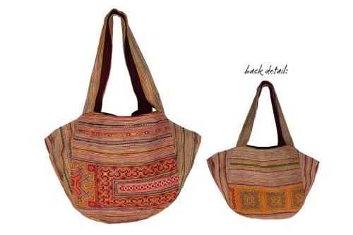 Hand Embroidered Hill Tribe Carryall