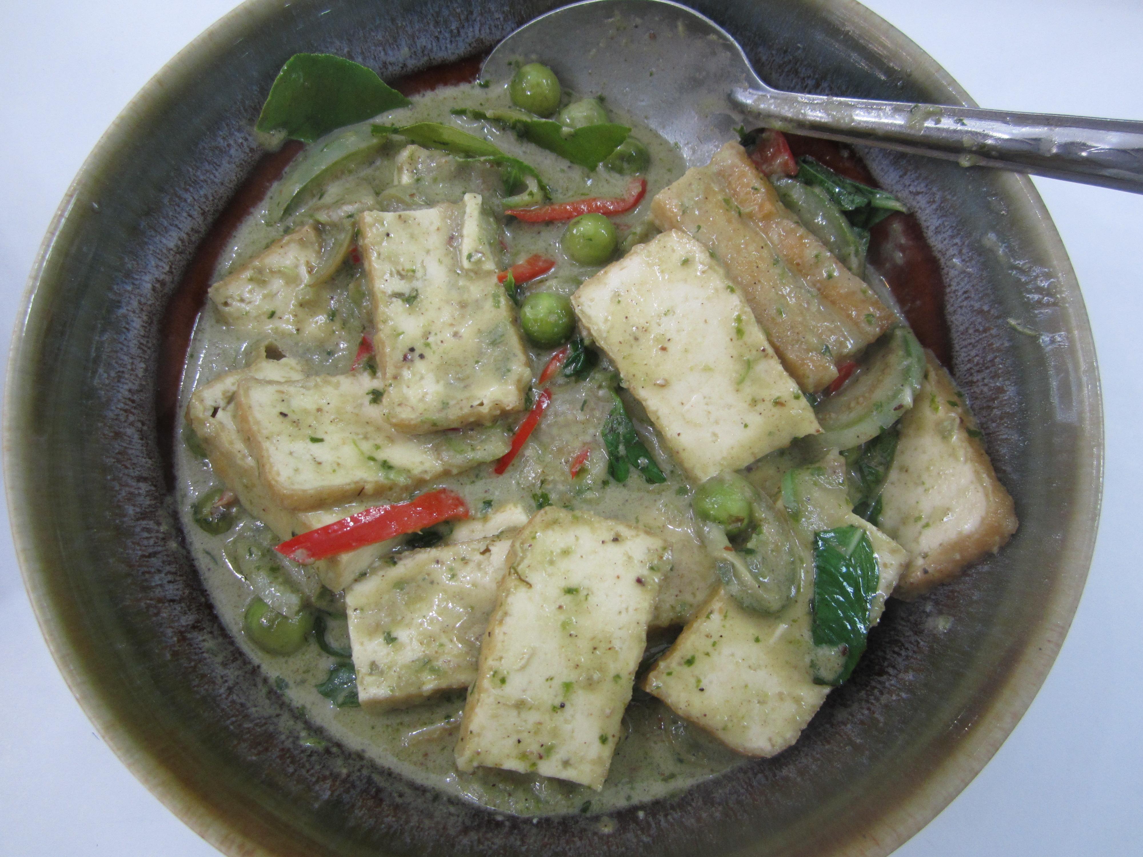 Thai Green Curry with Tofu & Eggplant