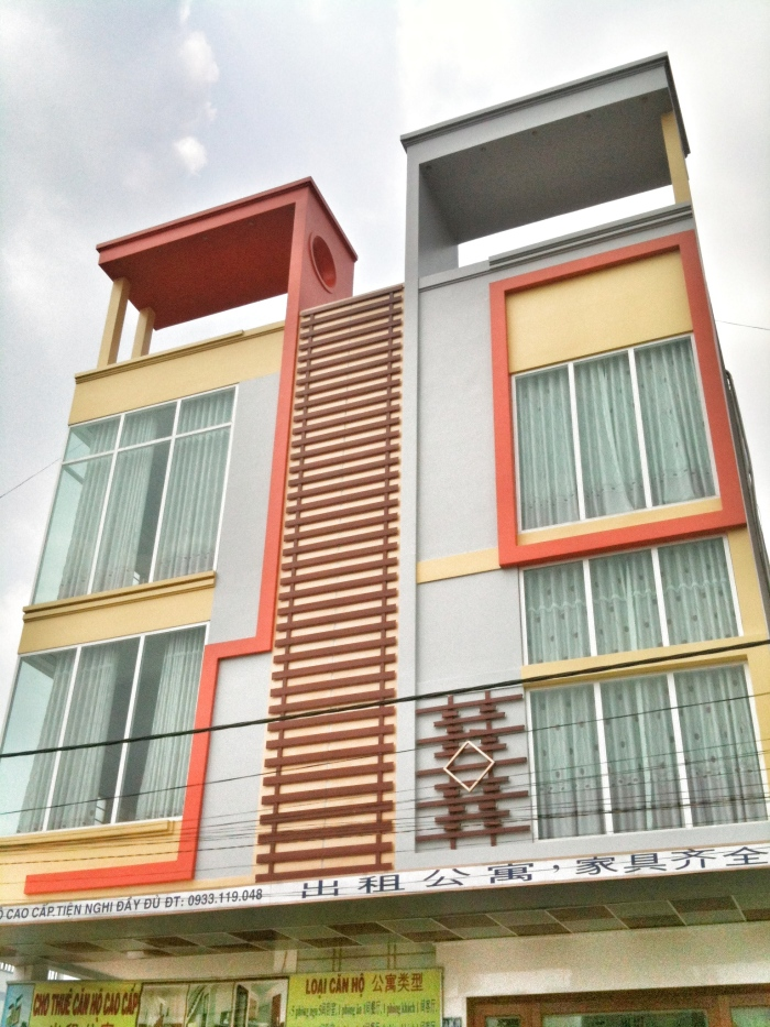 Colorful architecture in Bien Hoa - a reference to Mid-Century Modern?