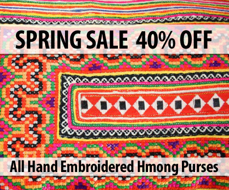 Wanderloots Spring Sale 40 Off All Hand Embroidered Hmong Purses