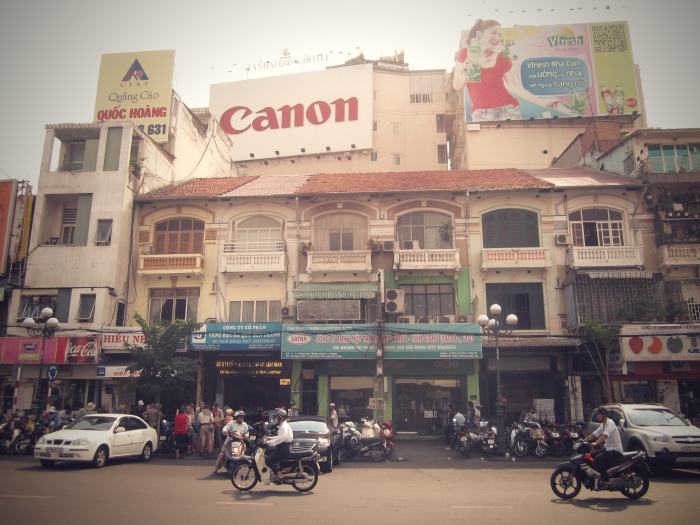 Downtown Saigon (across from Binh Thanh Market)