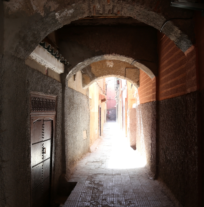 Magical tunnels leading to mysterious places in Essaouira.