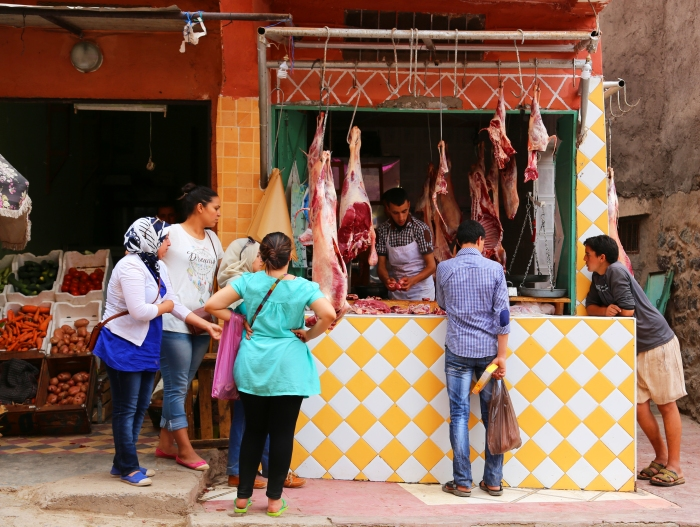 Meat for sale in Imlil.