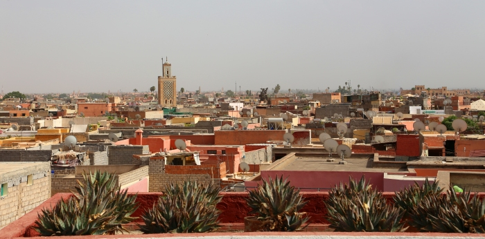 Overlooking Marrakesh.