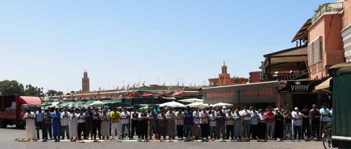 Call to prayer in Marrakech.
